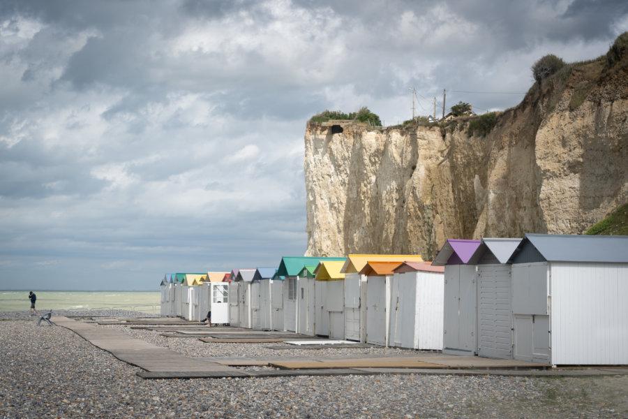 Cabines de plage de Mesnil-Val