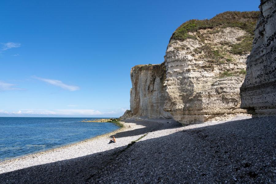 Valleuse près d'Etretat, plage de Normandie