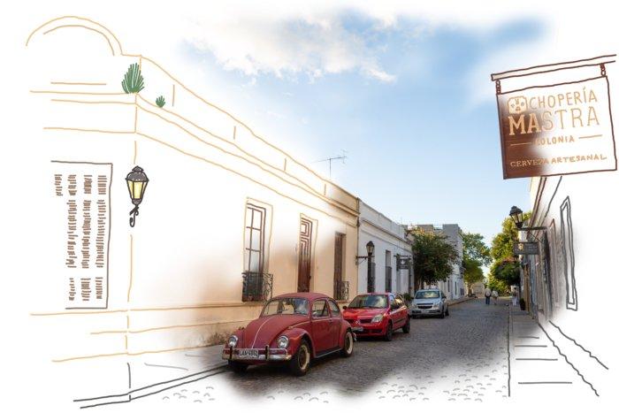 Ville de Colonia del Sacramento en Uruguay
