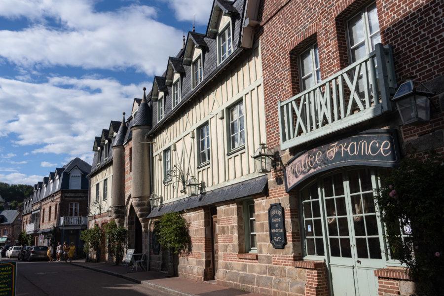 Ville de Veules-les-Roses en Normandie