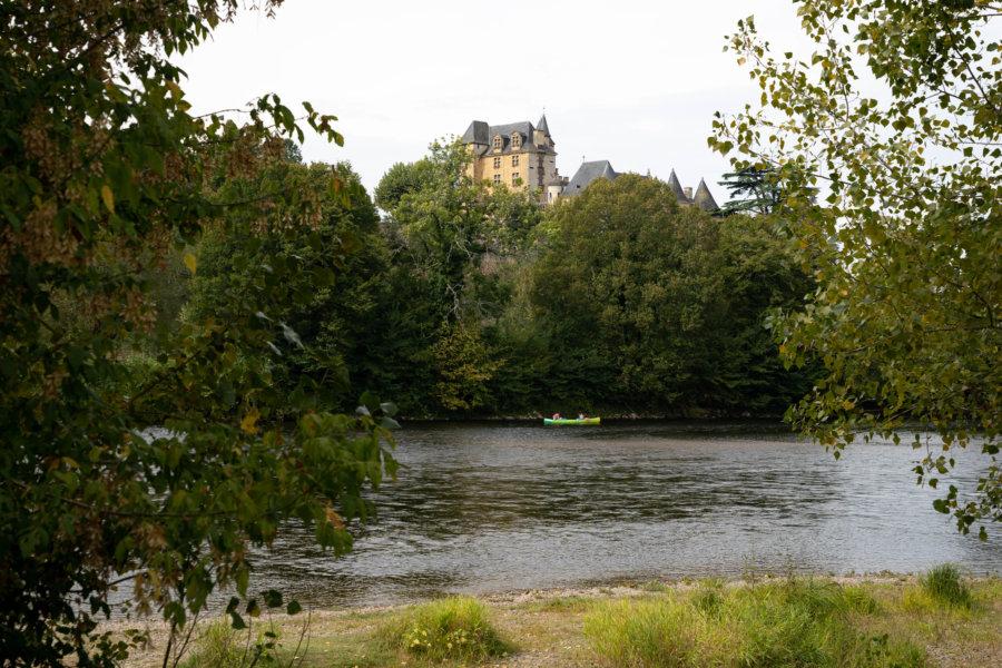 Plage du camping des Magnanas en Dordogne