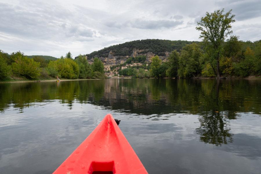 Canoë sur la Dordogne à Castelnaud, Périgord noir