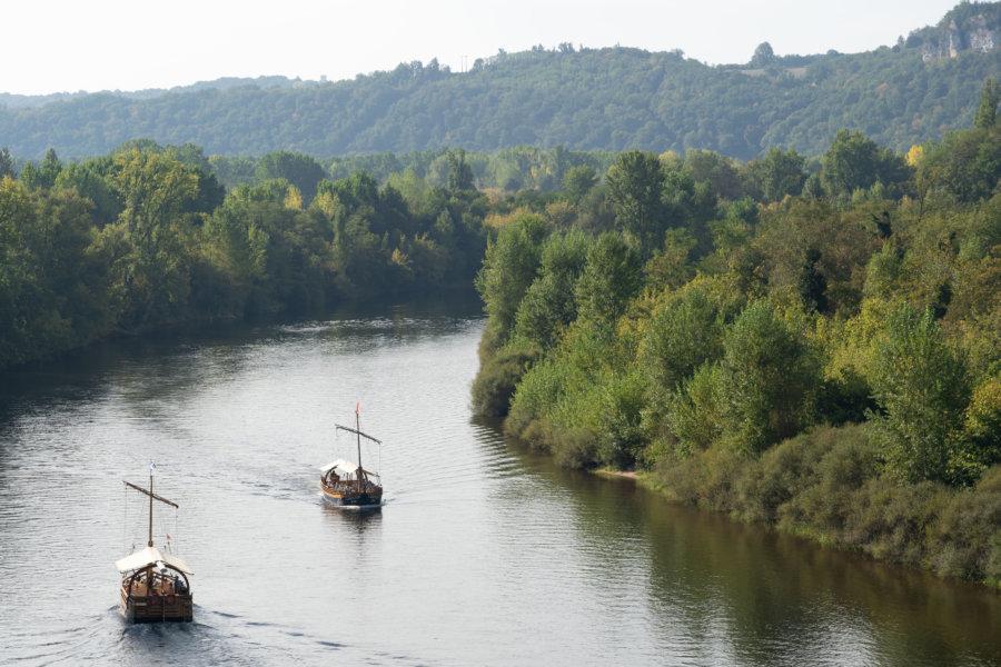Tour en Gabares sur la Dordogne à La Roque Gageac