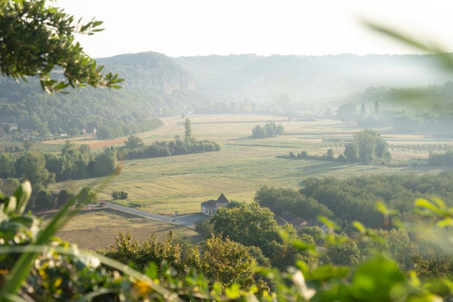 Paysage de la Dordogne depuis Castelnaud