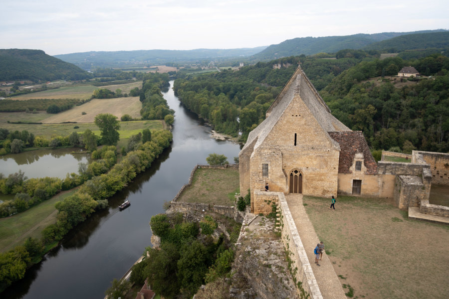 Point de vue depuis le château de Beynac en Dordogne