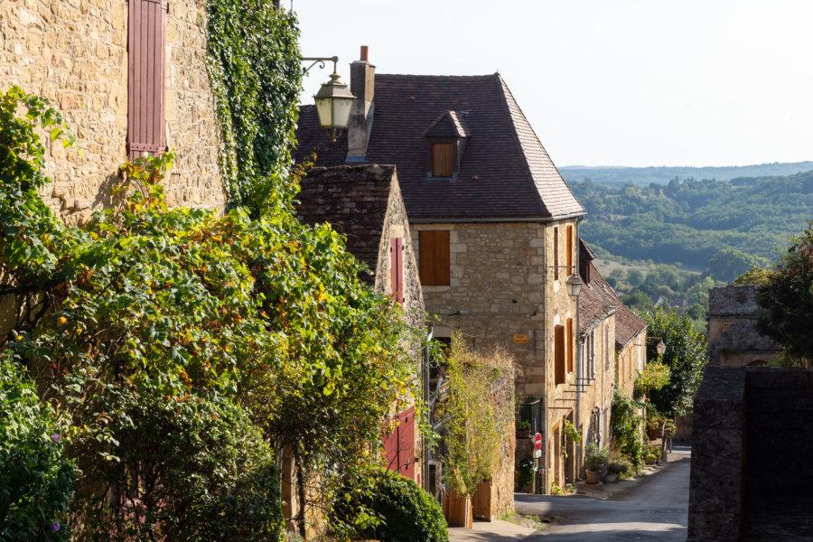 Village de Domme en Dordogne, Périgord noir