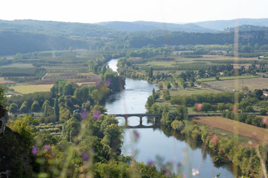 Vue sur la Dordogne depuis le belvédère de Domme