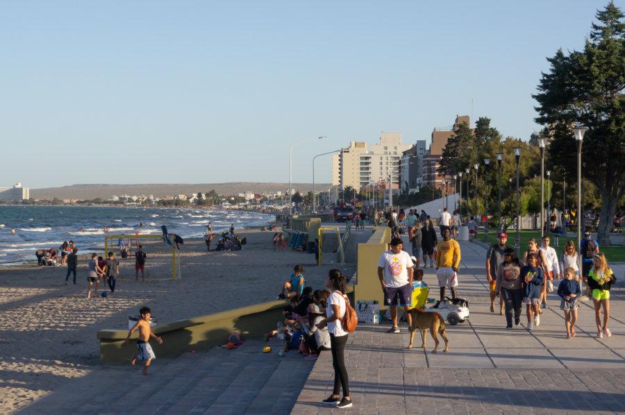 Plage de Puerto Madryn en Argentine