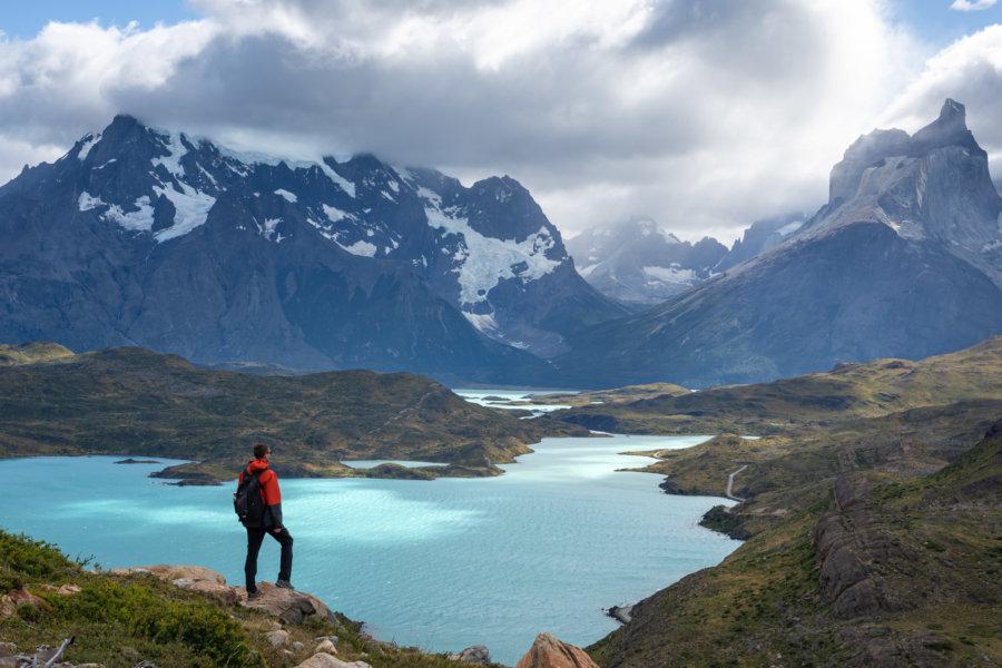 Lago Pehoe à Torres del Paine en Patagonie, Chili