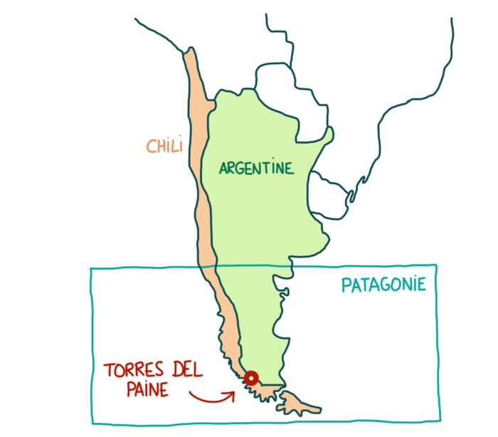 Carte Torres del Paine