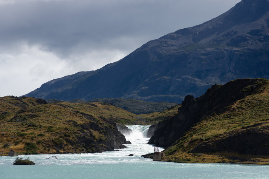 Cascade de Salto Grande en Patagonie