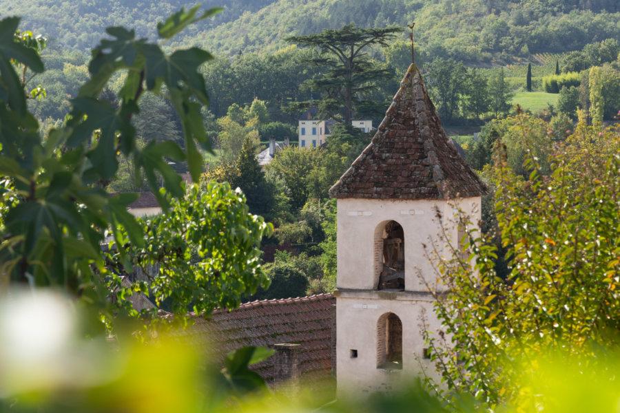 Église de Luzech, village de la vallée du Lot