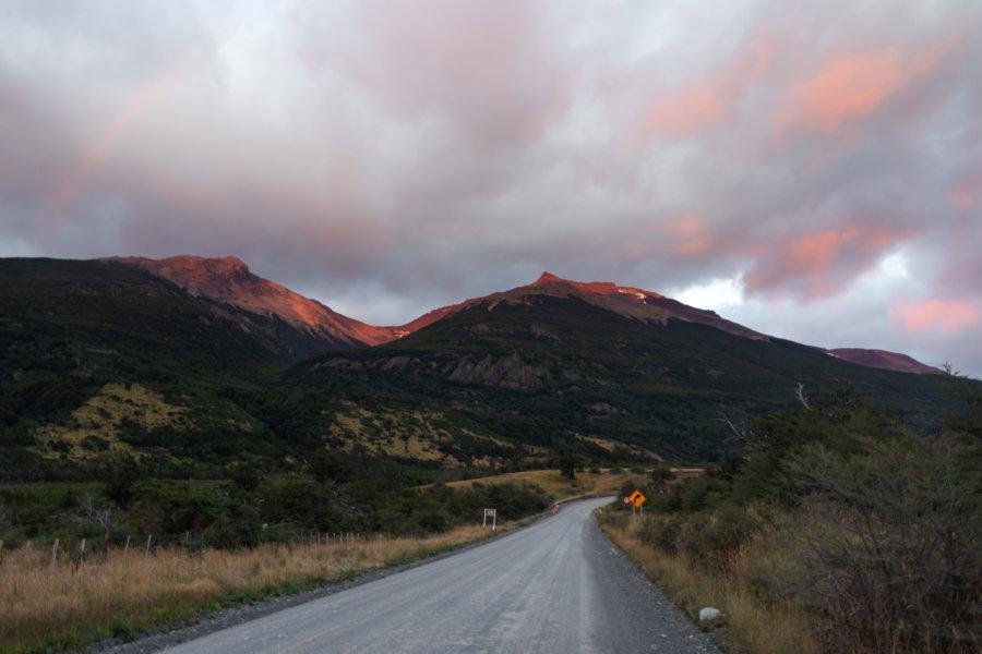 Lever de soleil en route vers Torres del Paine