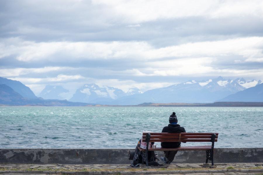 Paysages de montagne à Puerto Natales au Chili