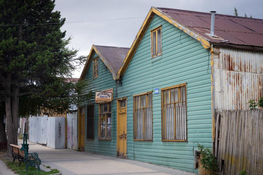 Maisons en bois à Puerto Natales au Chili