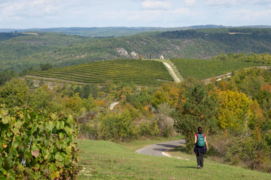 Randonnée près d'Albas : le Lot à l'automne