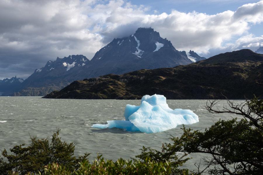Iceberg géant sur le lago grey à Torres del Paine
