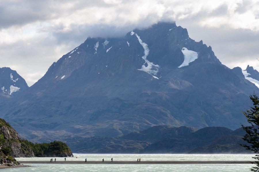 Randonnée du lago Grey à Torres del Paine au Chili
