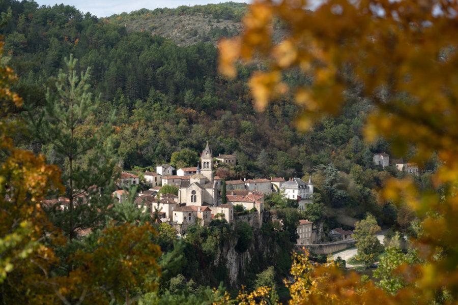Randonnée près d'Albas à l'automne dans le Lot