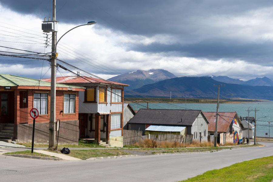 Ville de Puerto Natales au Chili