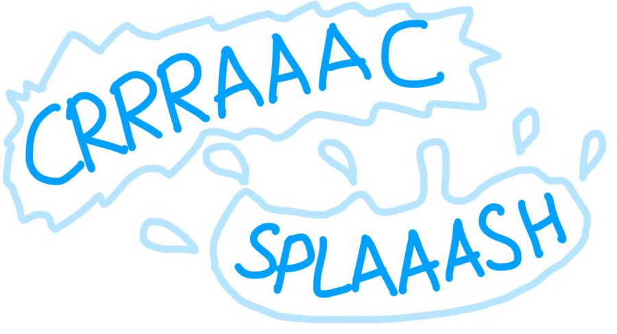 Dessin : craaaac splaaaash le glacier se brise