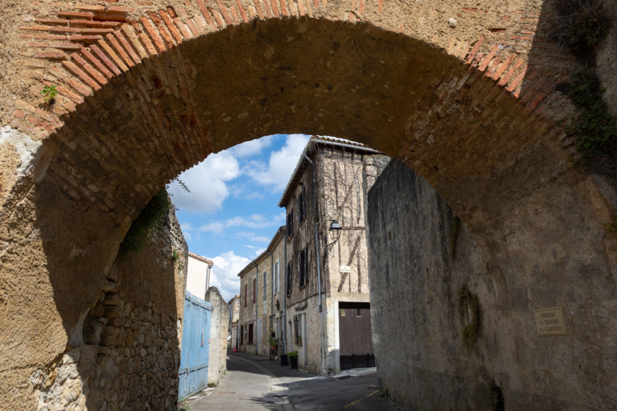 Rue de Lectoure dans le Gers