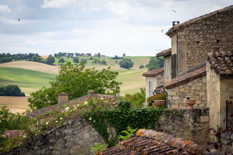 Bastide de Marsolan, village du Gers