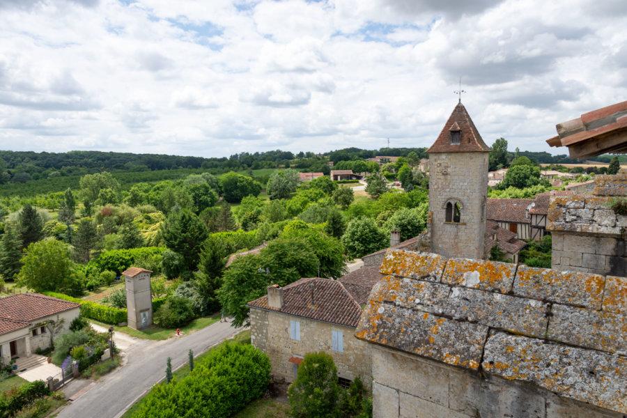 Village de La Romieu depuis la collégiale