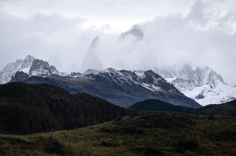 Fitz Roy caché dans les nuages, El Chaltén