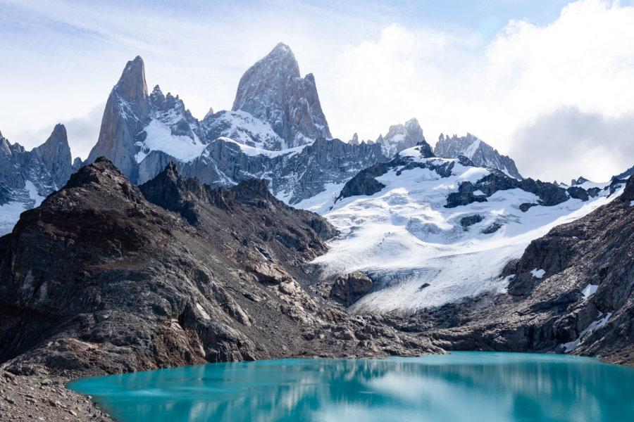 Laguna de los tres et Fitz Roy en Patagonie