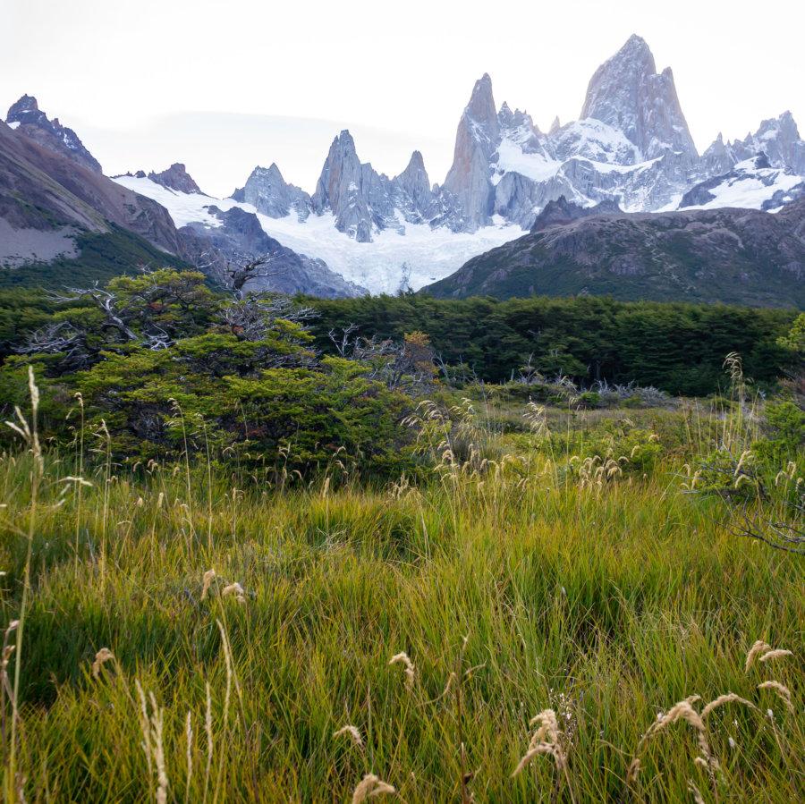 Randonnée vers la Laguna de los tres, paysage de Patagonie