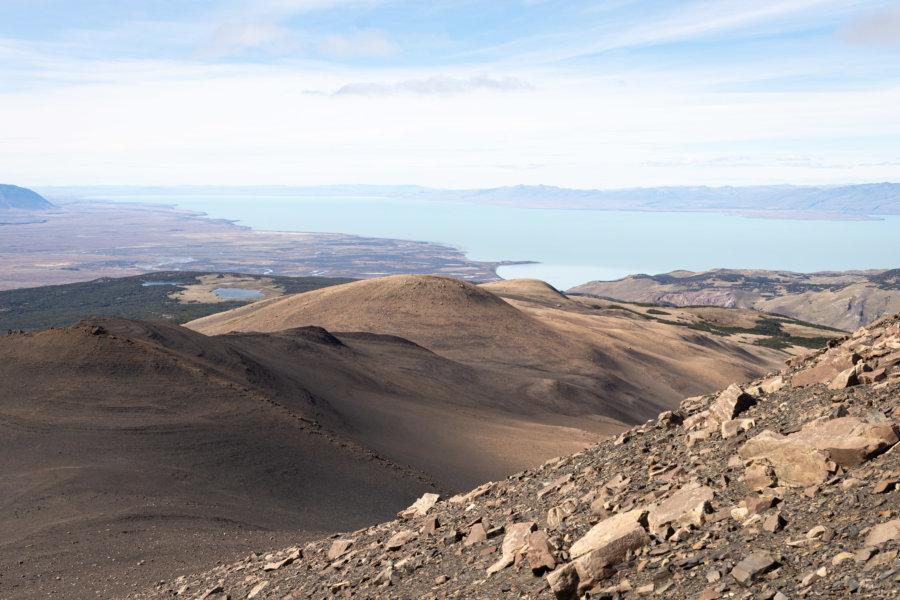 Randonnée Loma Pliegue Tumbado, désert et Lago Argentino