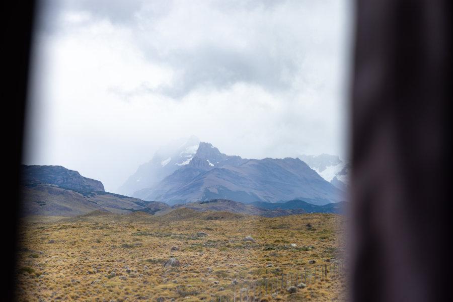 Trajet en bus vers El Chaltén en Patagonie argentine