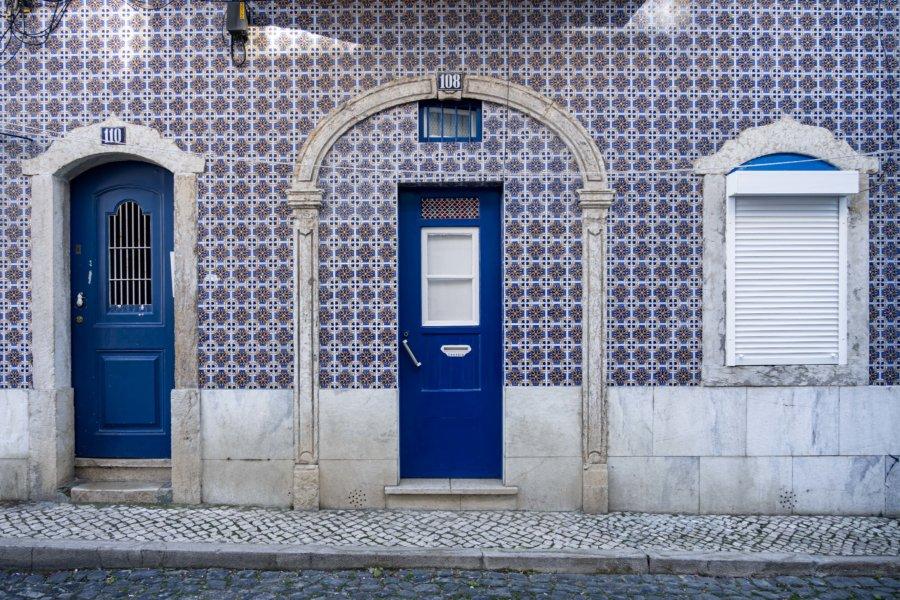 Azulejos dans le quartier de Mouraria à Lisbonne