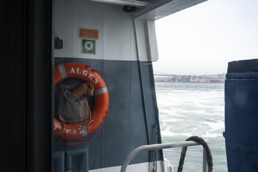 Traversée du Tage en bateau entre Lisbonne et Almada