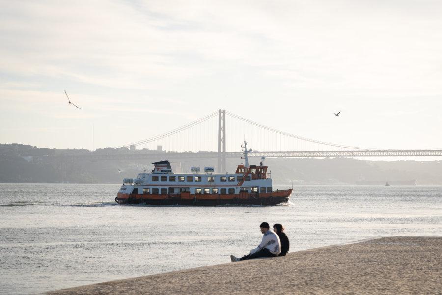 Bord du Tage à Lisbonne