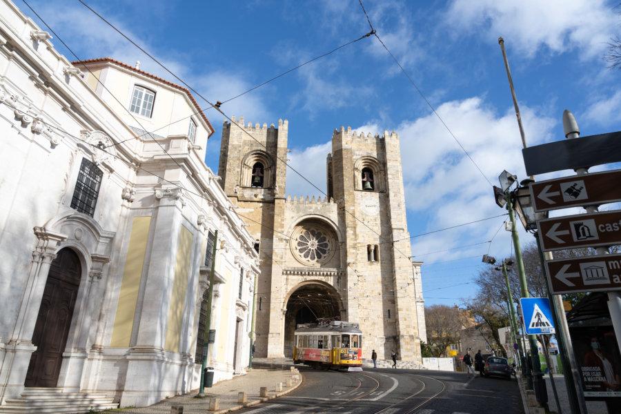 Cathédrale Sé, quartier d'Alfama à Lisbonne