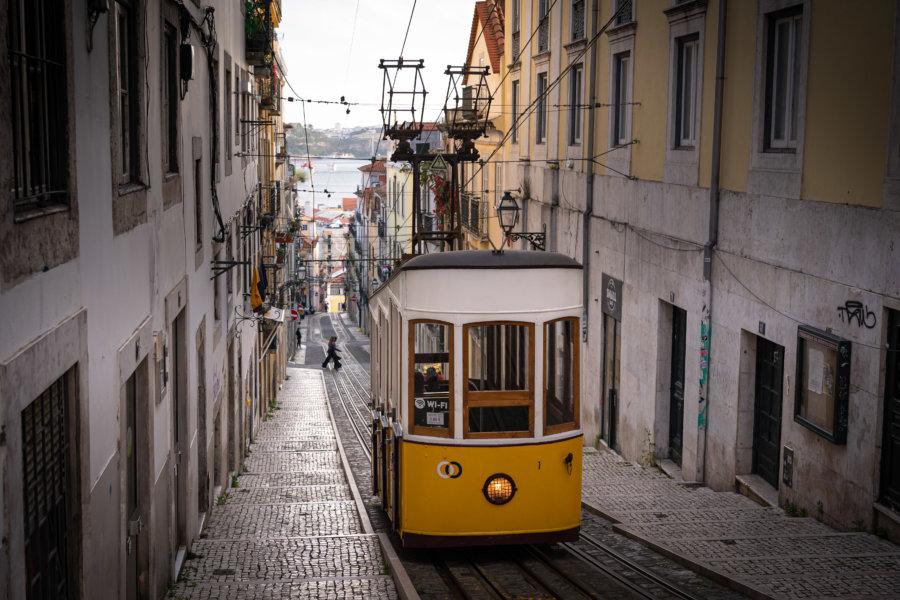 Funiculaire Bica à Lisbonne