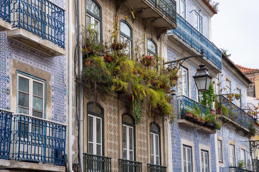 Immeubles aux belles façades à Santos, Lisbonne