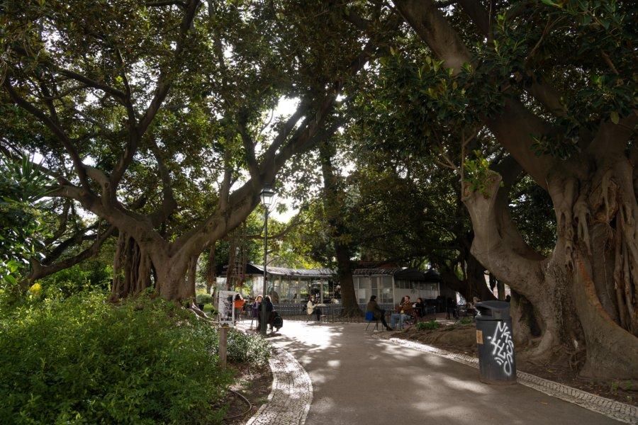 Kiosque du jardin de Principe Real à Lisbonne