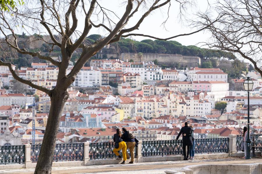 Mirador de São Pedro de Alcântara à Lisbonne