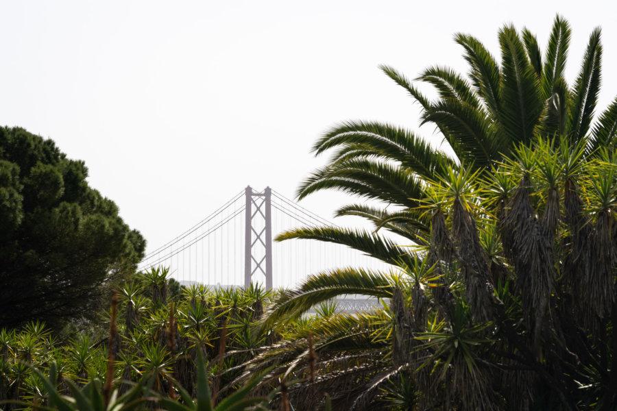 Vue sur le pont depuis le parc Tapas das Necessidades