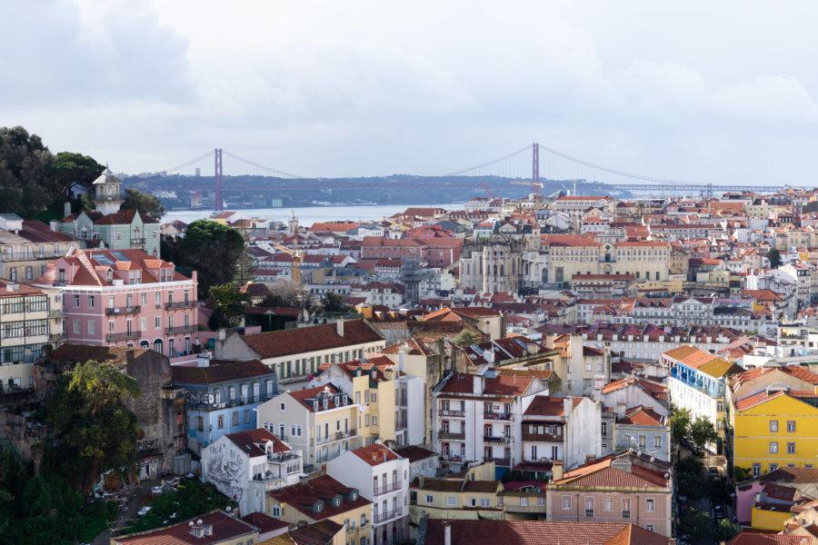 Point de vue sur Lisbonne, mirador de Graça