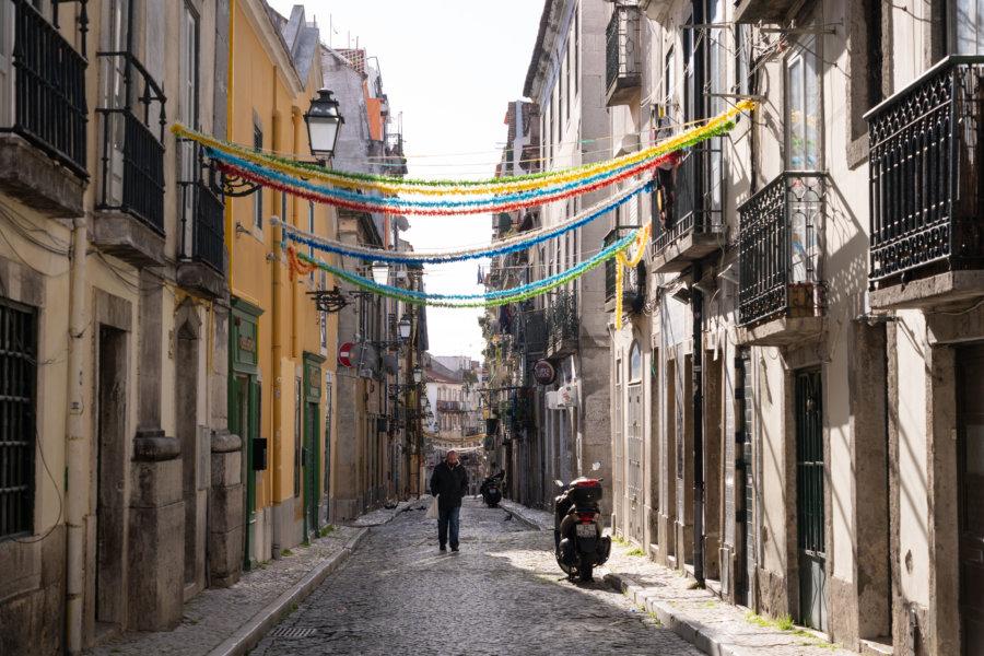 Quartier du Bairro Alto à Lisbonne