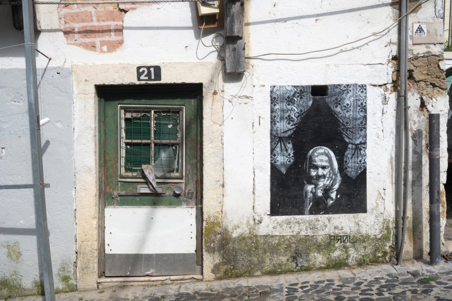 Quartier Mouraria à Lisbonne, Portugal