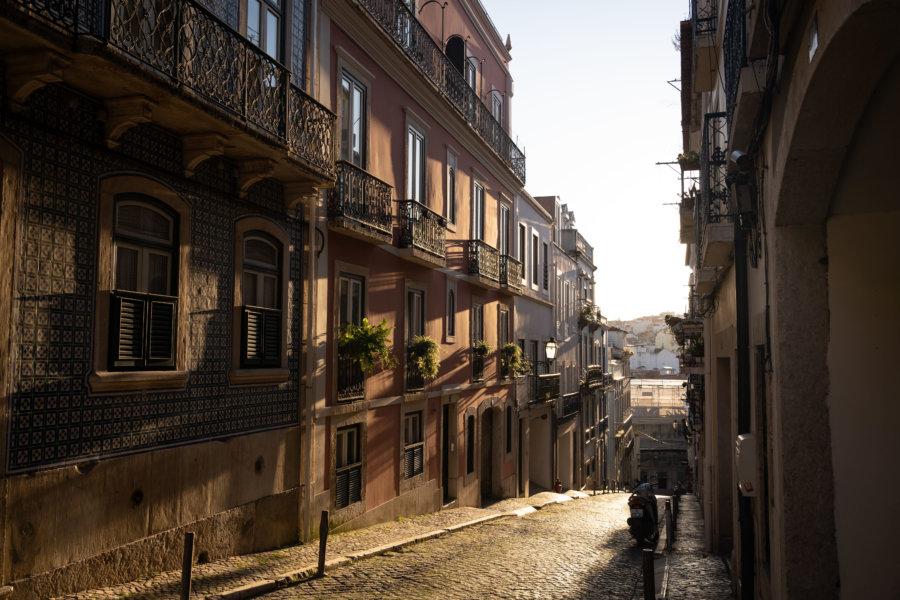 Rue de Lisbonne vers Santa Catarina