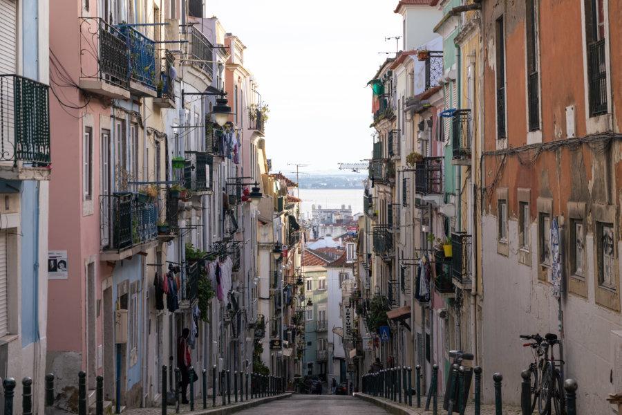 Rue de Lisbonne en pente