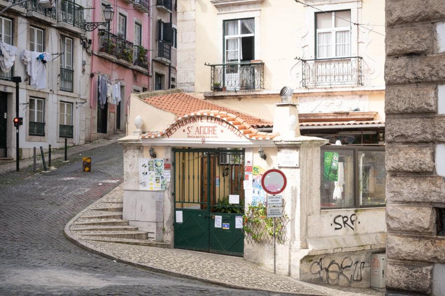 Quartier de Mouraria à Lisbonne