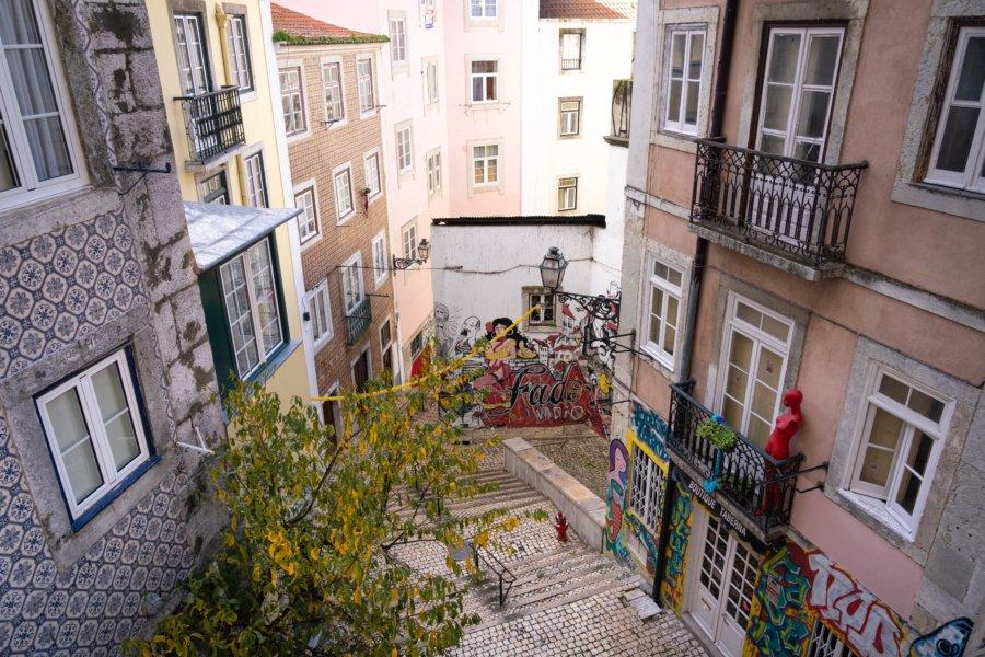 Escaliers São Cristovão, Mouraria, Lisbonne