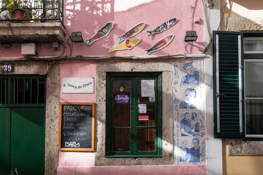 Sardines et fado, Bairro Alto